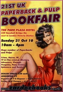 21st UK Paperback & Pulp Bookfair
